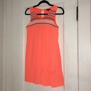 bright orange girls dress